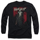 Friday the 13th Long Sleeve Shirt Death Curse Black Tee T-Shirt