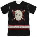 Friday the 13th Shirt Jason Voorhees Jersey Sublimation Shirt Front/Back Print