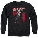 Friday the 13th Sweatshirt Death Curse Adult Black Sweat Shirt