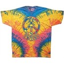 Funky 70s Peace Tie Dye Woodstock Color Adult Unisex T-shirt Tee Shirt