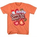 Fun Dip Shirt Cherry Yum Diddly Dip Heather Orange T-Shirt