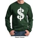 Funny Sweatshirt Distressed Dollar Sign Sweat Shirt