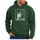 Game Over Marriage Ceremony Hoodie Funny Dark Green Hoody White Print