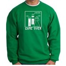 Game Over Marriage Ceremony Sweatshirt Funny Kelly Green
