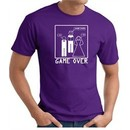 Game Over Marriage Ceremony T-shirt Funny Purple Tee