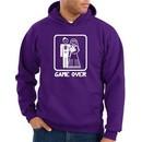 Game Over Hoodie Sweatshirt Funny Marriage Purple Hoody ? White Print