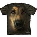 German Shepherd Shirt Tie Dye Portrait Face T-shirt Adult Tee