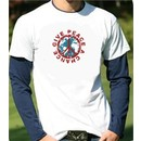 Peace Sign Long Sleeve Shirt-in-Shirt Give Peace a Chance Shirt