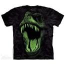 Glowing T-Rex Shirt Tie Dye Adult T-Shirt Tee