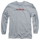 GMC Long Sleeve Shirt Chrome Logo Athletic Heather Tee T-Shirt