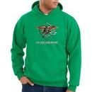 US Navy Seal Hoodie Hooded Sweatshirt ? Devgru Adult Kelly Green Hoody