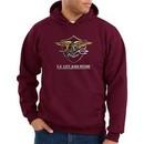 US Navy Seal Hoodie Hooded Sweatshirt ? Devgru Adult Maroon Hoody