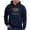 US Navy Seal Hoodie Hooded Sweatshirt ? Devgru Adult Navy Blue Hoody