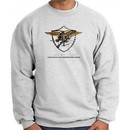 U.S. Navy Seal Crewneck Sweatshirt ? Devgru Adult Pullover Ash