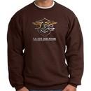 U.S. Navy Seal Crewneck Sweatshirt ? Devgru Adult Pullover Brown