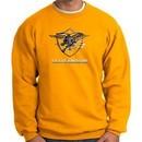 U.S. Navy Seal Crewneck Sweatshirt ? Devgru Adult Pullover Gold