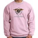 U.S. Navy Seal Crewneck Sweatshirt ? Devgru Adult Pullover Pink