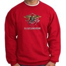 U.S. Navy Seal Crewneck Sweatshirt ? Devgru Adult Pullover Red