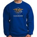 U.S. Navy Seal Crewneck Sweatshirt ? Devgru Adult Pullover Royal Blue