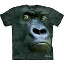 Gorilla Shirt Tie Dye Ape Silverback Portrait T-shirt Adult Tee