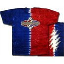 Grateful Dead Shirt Tie Dye Flip Letters Adult Tee T-Shirt