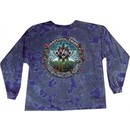 Grateful Dead T-shirt Tie Dye Forty Years Purple Long Sleeve Tee Shirt