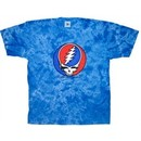 Grateful Dead Shirt Steal Your Face Blue Tie Dye Adult Tee T-Shirt