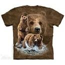 Grizzly Bears Shirt Tie Dye Adult T-Shirt Tee