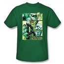 Green Lantern Kids Shirt Panels Justice League Kelly Green Youth Tee