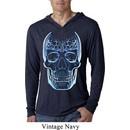 Halloween Glass Skull Lightweight Hoodie Shirt