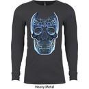Halloween Glass Skull Long Sleeve Thermal Shirt