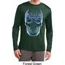 Halloween Glass Skull Mens Dry Wicking Long Sleeve Shirt