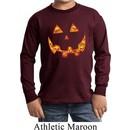 Halloween Jack O Lantern Skull Kids Long Sleeve Shirt