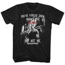 Halloween Shirt Dr. Loomis Fooled Them Black T-Shirt
