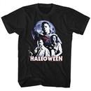 Halloween Shirt Movie Stars Black T-Shirt