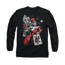 Harley Quinn Shirt Smoking Gun Long Sleeve Black Tee T-Shirt