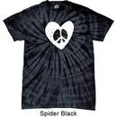 Hippie Heart Peace Spider Tie Dye T-shirt