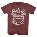 Hoosiers Shirt Hickory Established 1952 Athletic Maroon T-Shirt