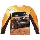 Hummer Long Sleeve Sunset Ride Sublimation Shirt Front/Back Print