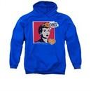 I Love Lucy Hoodie Sweatshirt I Love Worhol Omg Royal Blue Adult Hoody Sweat Shirt