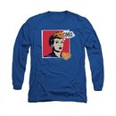 I Love Lucy Shirt I Love Worhol Omg Long Sleeve Royal Blue Tee T-Shirt
