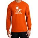 Stunts Long Sleeve Crashing and Falling Orange Shirt