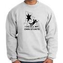 I Do My Own Stunts Ash Sweatshirt Crashing and Falling Black Print