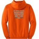 Biker Hoodie Hooded Sweatshirt The Bitch Fell Off Orange Hoody