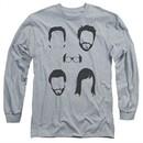 It's Always Sunny In Philadelphia Long Sleeve Shirt Casted Shadows Athletic Heather Tee T-Shirt