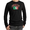 Italian Shirt Italy Soccer Futbol Thermal Shirt Black