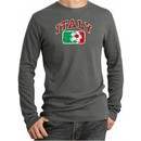 Italian Shirt Italy Soccer Futbol Thermal Shirt Deep Heather