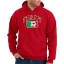 Italian Hoodie Hooded Sweatshirt Italia Soccer Futbol Adult Red Hoody