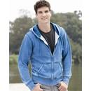 J America Hoodie Full-Zip Hooded Sweatshirt Vintage Zen Fleece Hoody
