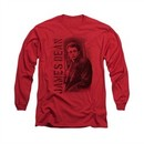 James Dean Shirt Trenchcoat Long Sleeve Red Tee T-Shirt